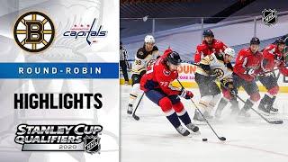 NHL Highlights | Bruins @ Capitals, Round Robin - Aug. 9, 2020
