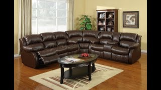 Brown Leather Sectional Sofas With Recliners