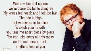Ed Sheeran - You Break Me (Lyrics)