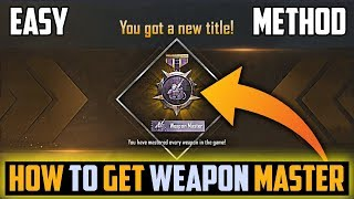 How To Get Weapon Master Title I!   n Pubg Video - how to complete weapon master easily in pubg mobile