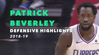 Patrick Beverley Defensive Highlights   2018-19   Los Angeles Clippers