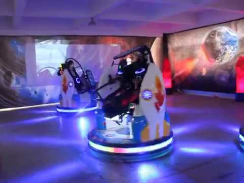 Space Car Gyro Arcade Game Machine