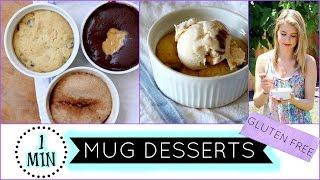 1 Minute Mug Desserts! | Gluten Free |