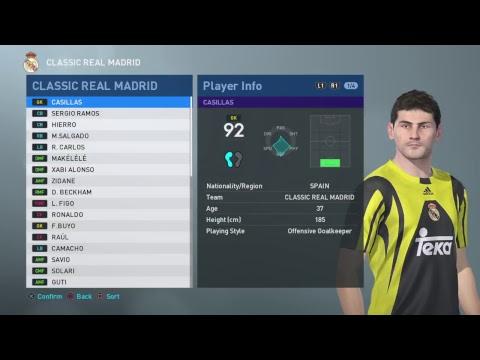 PES 2019 - Classic Real Madrid (PS4) - смотреть онлайн на