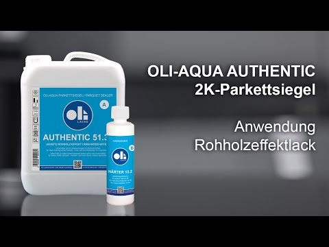 Anwendungsvideo Rohholzeffektlack OLI-AQUA AUTHENTIC 51.30 auf Parkett