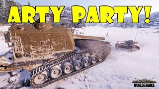 World of Tanks - Funny Moments | ARTY PARTY! (WoT, June 2018 -1)