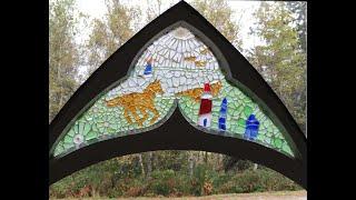 Antique Church Window Sea Glass Mosaic