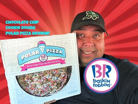 Baskin-Robbins® Chocolate Chip Cookie Dough Polar Pizza Review!