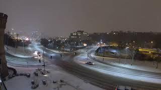 Cincinnati snow time-lapse, January 12th 2018