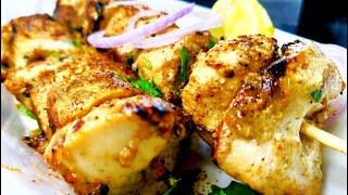 चिकन मलाई टिक्का | Restaurant Style Chicken Malai Tikka| No Oven No Tandoor Recipe in Hindi