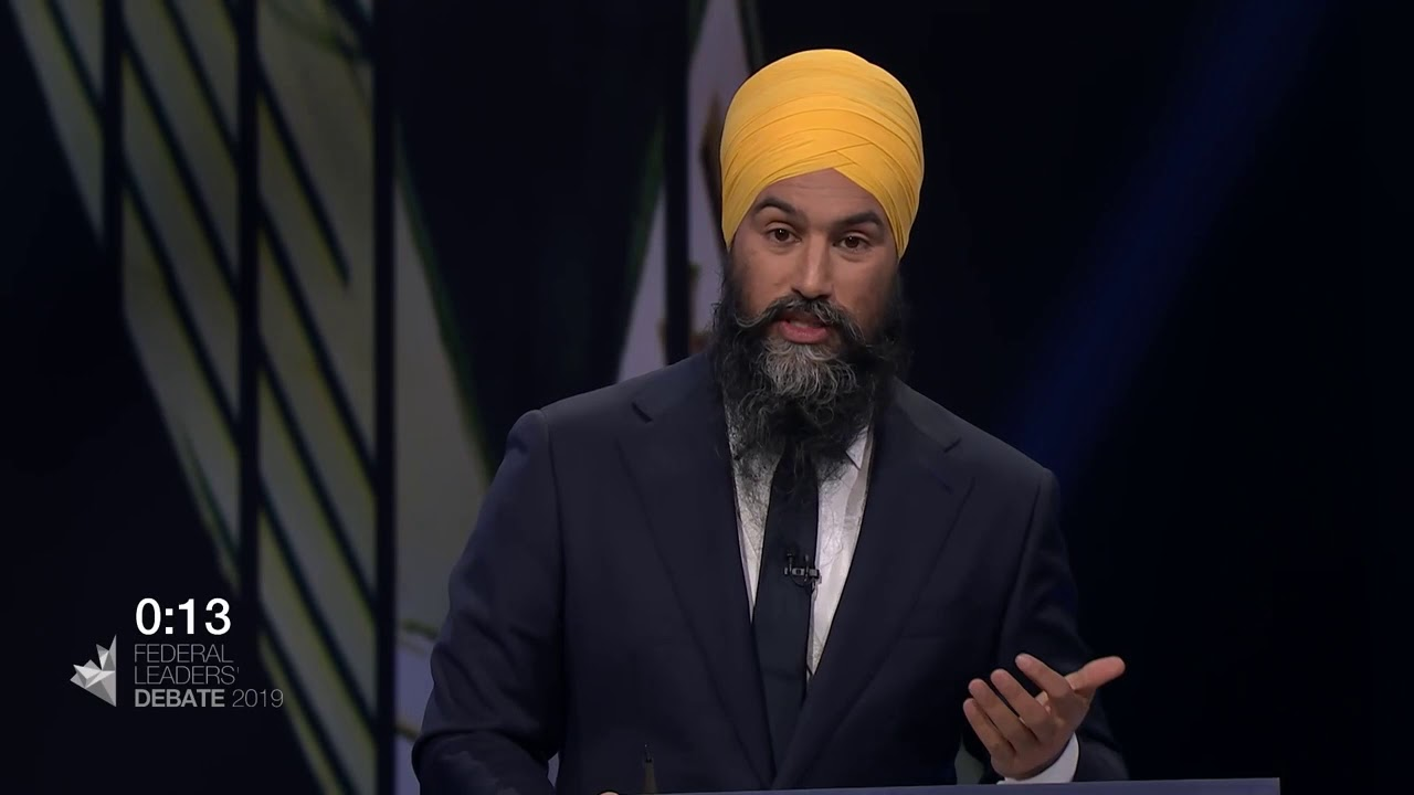 Jagmeet Singh answers a question about income inequality and affordability