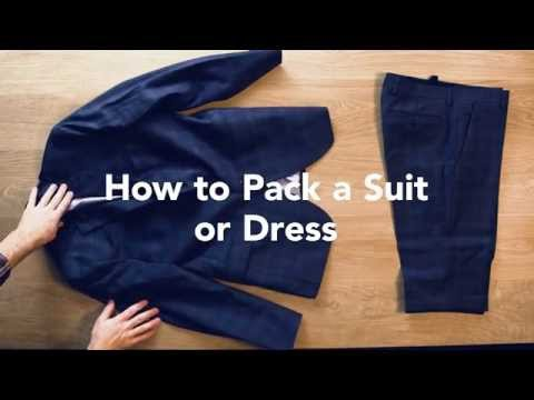 The Best Ways To Pack A Suit Or Dress So It Won't Wrinkle