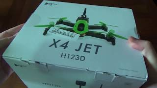 Hubsan H123D X4 JET, entry level per le corse dei droni FPV [UNBOXING]