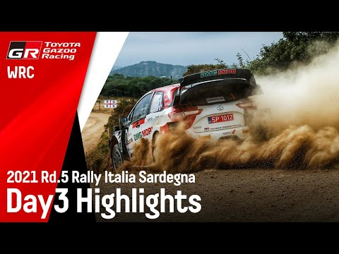 WRC 2021 第5戦ラリー・イタリア ToyotaGazooRacingのDay3ハイライト動画