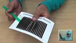 Смотреть онлайн Оптическая иллюзия при помощи подручных средств