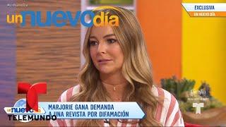 ¡Marjorie de Sousa vuelve a la carga contra Julián Gil! | Un Nuevo Día | Telemundo