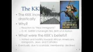 APUSH Review: Nativism in the 1920s