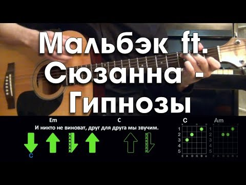 Мальбэк – Гипнозы (ft. Сюзанна Абдулла) РАЗБОР ПЕСНИ АККОРДЫ И БОЙ (БЕЗ БАРРЭ)