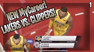 NBA 2k20 MyCareer Ep.1! Lakers vs Clipper Debut Game!