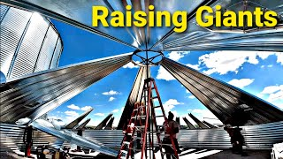 Here We GO! Raising GIANT Grain Bins|Part 1