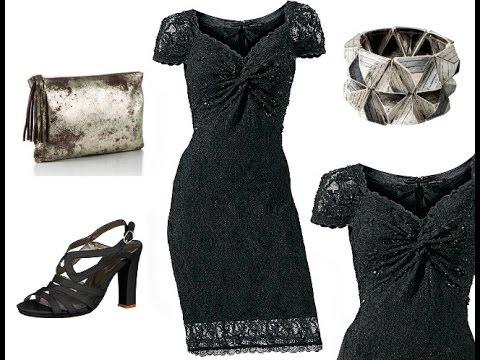 Langes Spitzenkleid in schwarz + Outfit Tipps