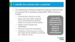 Step 1: Identify the contract | Revenue Recognition and ASC 606