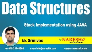 Stack Implementation using JAVA   Data Structures Tutorial   Mr. Srinivas