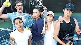 Try Guys & Friends Try Tennis