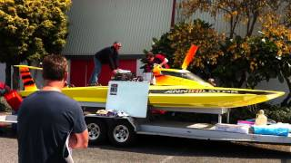 Annihilator boat at the Wanganui Speed Show 30/09/2012