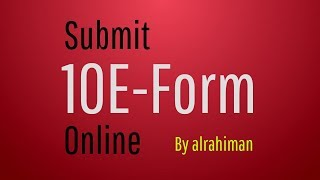 How to Submit 10E Form Online (Malayalam)