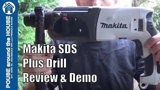 Makita SDS plus hammer drill REVIEW and DEMO. HR2470WX 3KG 240V Makita drill.