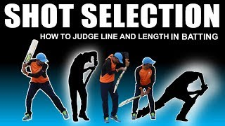 SHOT SELECTION | HOW TO JUDGE LINE AND LENGTH IN BATTING | HINDI TIPS
