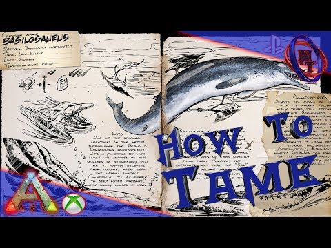 How To Tame A Basilosaurus(EASY!)- Ark Survival Evolved Xbox