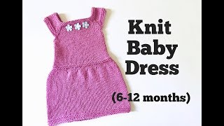 Knit Easy Baby Dress Tutorial (6-12 months)