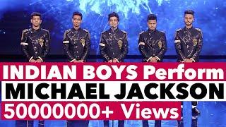 INDIAN Boys Dance Michael Jackson on ITALY TV Show   Bollywood in Europe   Shraey Khanna   MJ Style