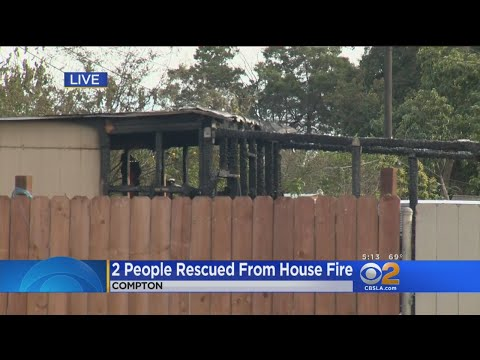 2 People Rescued From House Fire In Compton