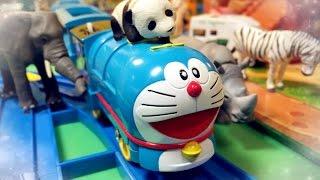 【xe lửa đồ chơi 】Doraemon @ Khu dã sinh  Ania Animal Adventure 01600 vn