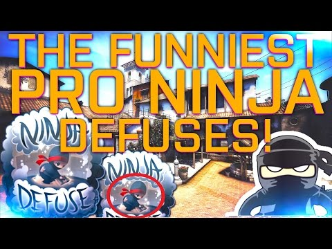CS:GO | THE FUNNIEST PRO NINJA DEFUSES!! ft. JW, pasha, Snax & more (2016/15 EDITION)