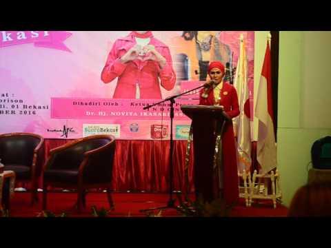 Ketua Peace & Love Indonesia, Dr.Novita Ikasari, SS.SE.MSi