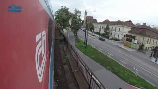 Praha hl. nádraží - Beroun/POHLED NA TRAŤ Z KONCE SOUPRAVY/ HD KVALITA