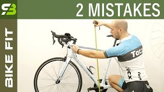 2 Biggest Mistakes In Finding The OPTIMAL Bike Frame Size.