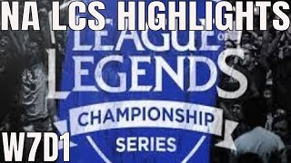 NA LCS Highlights ALL GAMES Week 7 Day 1 Full Day Highlights Summer 2018 W7D1