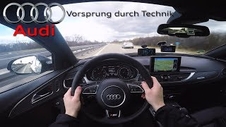 2017 Audi A6 Bi-Turbo Competition (326Hp) POV- Top speed on Autobahn ✔