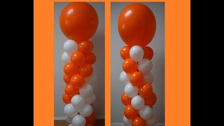 How To Make A Balloon Column For Spiral Balloon Decorations Pattern Series Part 2 Double And Single