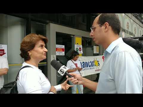 Paralisação no BB contra reestruturação- Entrevista Eneida Koury TV Tribuna