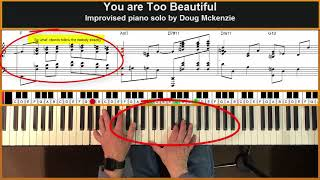You Are Too Beautiful (Rodgers and Hart) - jazz piano tutorial