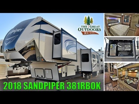 New 2018 Bunk House Model SANDPIPER 381RBOK Fifth Wheel Front Bedroom Colorado Dealer