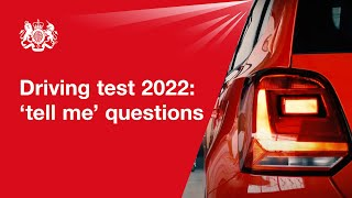 'Show me, tell me': tell me questions 2019: official DVSA guide