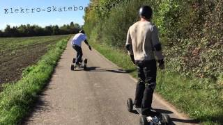 preview picture of video 'electric skateboard 60 fps with iPhone 6 / FeWo E-WE Haßloch 2014'