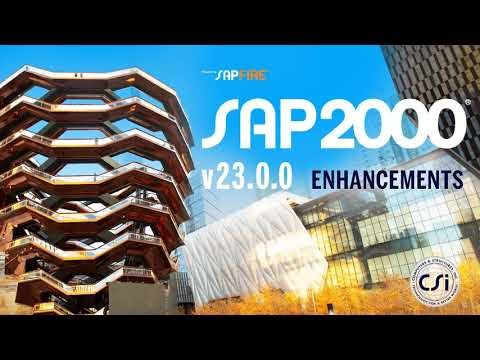 SAP2000 v23.0.0 Enhancements